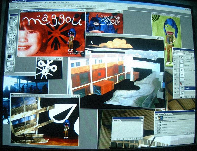 1999 - Pentium, 3D & Photographie numérique | Capture d'écran d'une vidéo en cours de réalisation